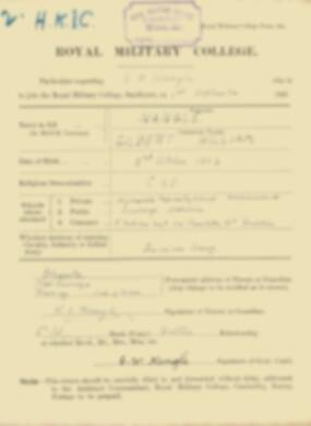 RMC Form 18A Personal Detail Sheets Feb & Sept 1922 Intake - page 107