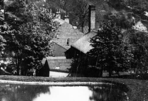 07 Centre of Kenyon\'s Mill, Denby Dale, c1910