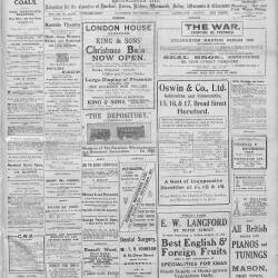 Hereford Journal - 5th December 1914