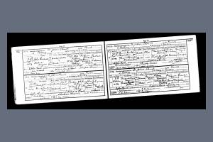 Marriage Certificate for Private Francis Harold Chamberlain and Florence Mary Durham