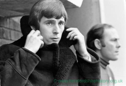 Colin Addison in the Edgar Street dugout, Jan 1972.