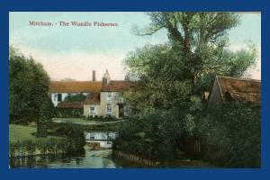 London Road, Mitcham: Fisheries Cottages and mills