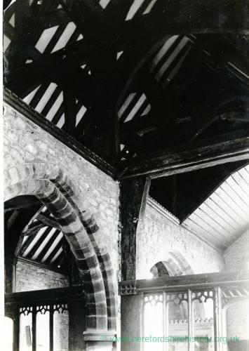 Stretford Church, Herefordshire, interior
