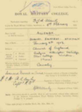 RMC Form 18A Personal Detail Sheets Feb & Sept 1921 Intake - page 3