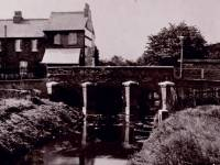 The bridge, Beverley Brook,  Wimbledon