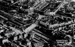 Aerial view of Wimbledon Station