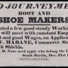 Wanted Advertisement for Shoe Makers