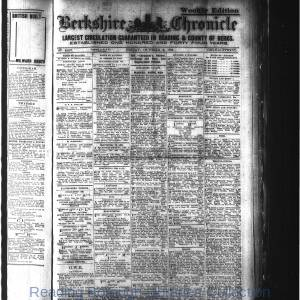 Berkshire Chronicle Reading 10-1914