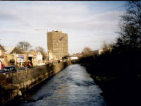 The River Wandle near Merton High street, Merton