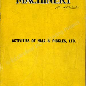 Machinery Magazine, Hall & Pickles