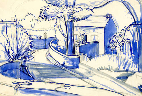 Dane Cottage from Bridge by Dorothea Rowlinson