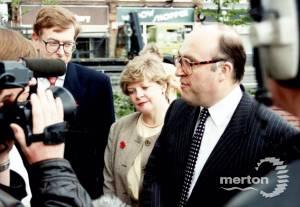 Labour leader, John Smith M P visits Merton Civic Centre