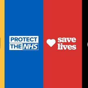 Talk Community stay at home save lives graphic, 1 May 2020