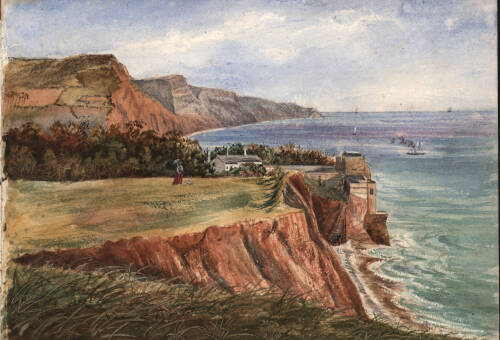 Peak Hill and the coast from Sidmouth to Beer, c1880, Sidmouth