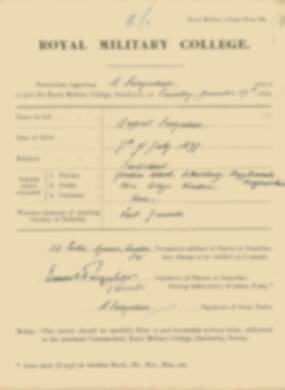 RMC Form 18A Personal Detail Sheets Jan 1915 Intake - page 117