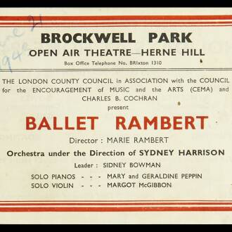 Open Air Theatre, Brockwell Park, Herne Hill