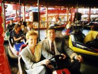 Mayoress Jackie McCabe and Jimmy Bottan, Mitcham Fair