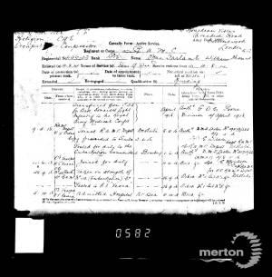Casualty Record 2 - William Thomas MacFarlane