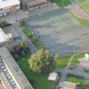 Balloon view John Kyrle High School 2009.jpg