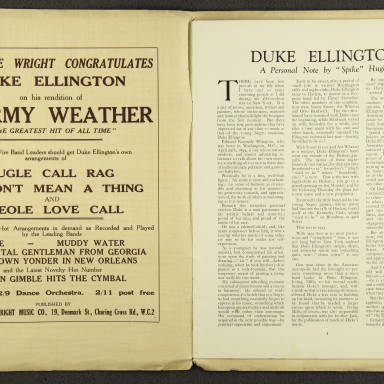 Duke Ellington Orchestra British Tour – July 1933 002