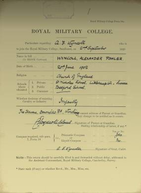 RMC Form 18A Personal Detail Sheets Jan & Sept 1932 Intake
