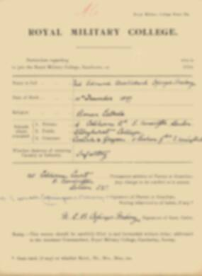 RMC Form 18A Personal Detail Sheets Jan 1915 Intake - page 85