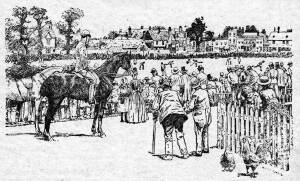 Cricket match on Mitcham Common, late 19th century