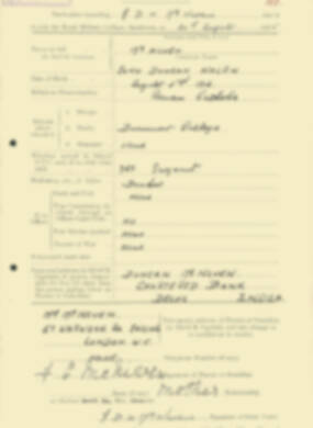 RMC Form 18A Personal Detail Sheets Aug 1935 Intake - page 137