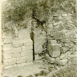 Clifford Castle remains of portcullis