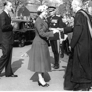 Queen Elizabeth II arriving at the Cathederal