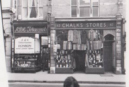 Chalk's Store, photograph, c1970, Exeter