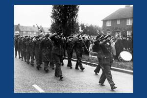 Remembrance Day parade, Morden