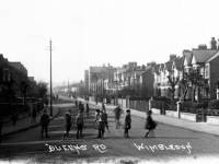 Queens Road, Wimbledon: Children playing