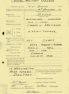 RMC Form 18A Personal Detail Sheets Jan & Aug 1931 Intake - page 13