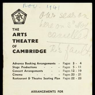 Arts Theatre of Cambridge, November 1941