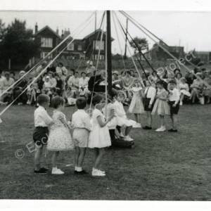 1960's Maypole Country Dancing In School Field (b)