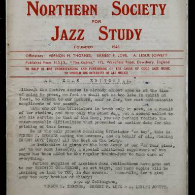 Northern Society For Jazz Study Vol.1 No.7 0001
