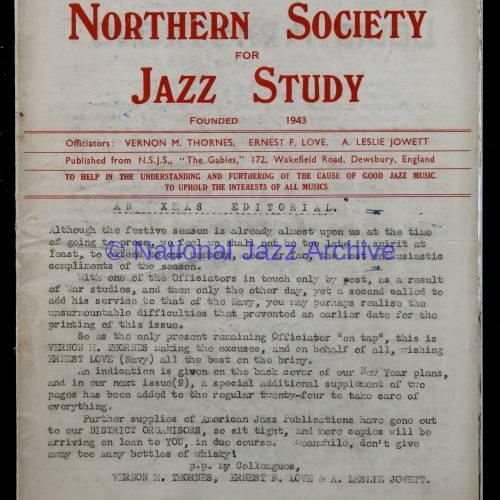 Northern Society For Jazz Study Vol.1 No.7 0001