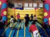 Bouncy castle, European Car Free Day, Morden
