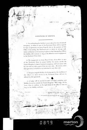 Service Record - Conditions of Service