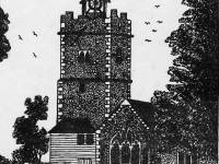 The Old Church at Mitcham - Taken down in 1819