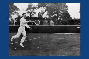 J Brugnon playing J. C. Masterman, All England Lawn Tennis championships, Wimbledon