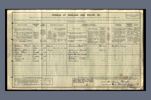 1911 census - 2 Lion Mount, Western Road