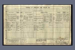 1911 census - 2 Lion Mount, Western Road