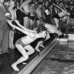 A swimming competition.