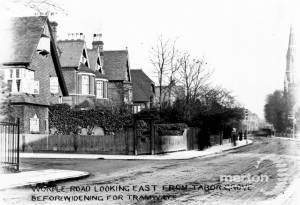 Worple Road, Wimbledon: Looking East from Tabor Grove