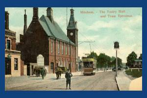 Trams in Mitcham - The Cricket Green Terminus