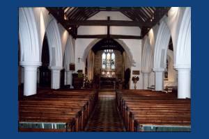 St. Mary's Parish Church, Merton : Interior view