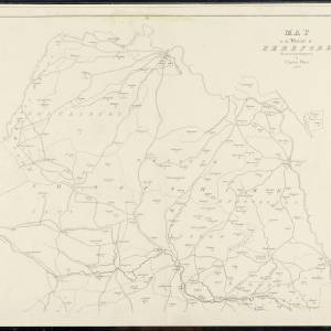 Map of the Diocese of Hereford, Charles Prince, 1828