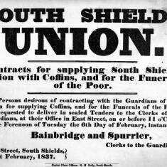 South Shields Union Contract for Coffins and Funerals